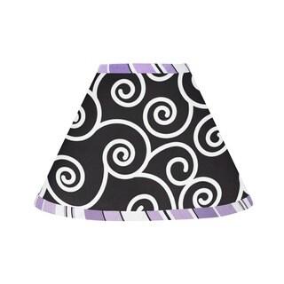 Sweet JoJo Designs Purple and Black Kaylee Lamp Shade
