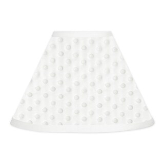 Sweet JoJo Designs Solid White Minky Dot Lamp Shade