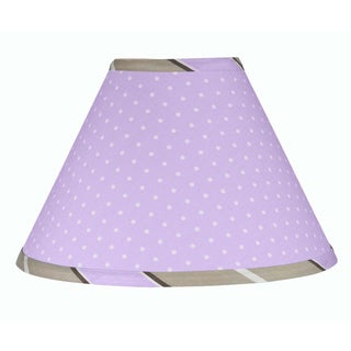 Sweet JoJo Designs Purple and Brown Mod Dots Lamp Shade
