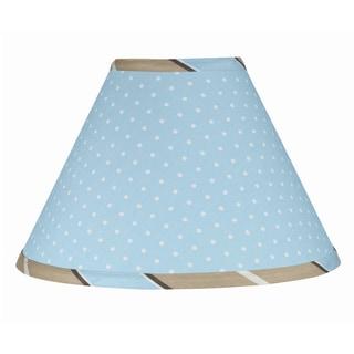 Sweet JoJo Designs Blue and Brown Mod Dots Lamp Shade