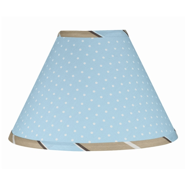Sweet JoJo Designs Blue and Brown Mod Dots Lamp Shade