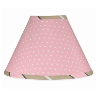 Sweet JoJo Designs Pink and Brown Mod Dots Lamp Shade
