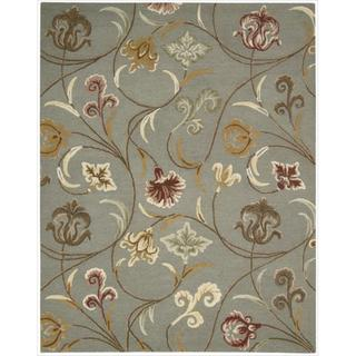 Hand-tufted In Bloom Smoke Wool Rug (2'6 x 4')