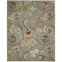 Hand-tufted In Bloom Smoke Wool Rug - 2'6 x 4'