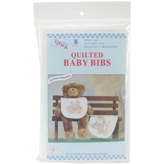 Stamped 'Heavenly Creatures' White Bibs (Pack of 2)
