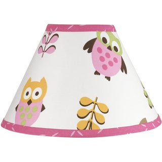 Sweet JoJo Designs Happy Owl Pink Lamp Shade