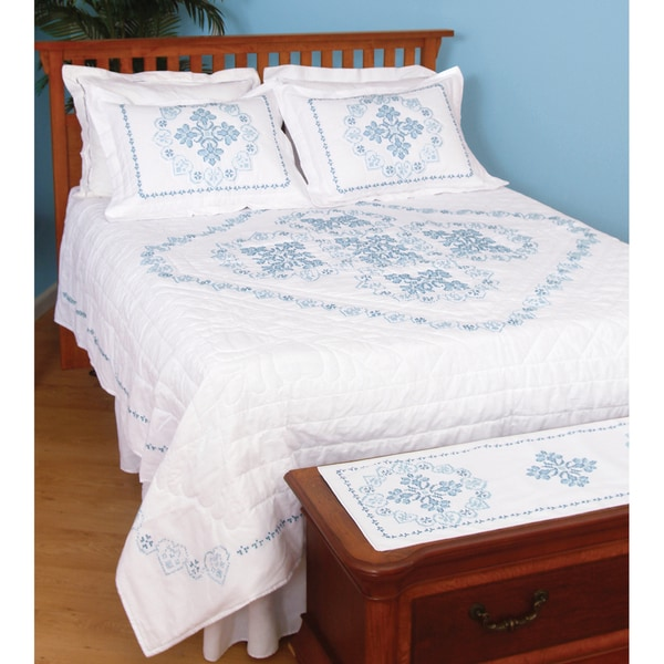 Stamped White Quilt Top -XX Americana
