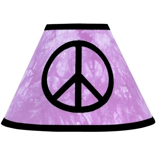 Sweet JoJo Designs Purple Tie Dye Peace Lamp Shade
