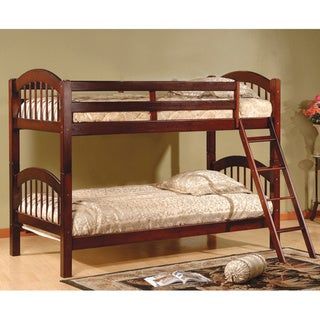 Arched Twin Esprit Cherry Finish Bunk Bed.