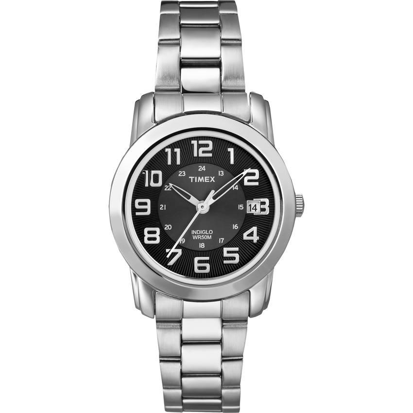 Timex T2N4339J Women's Elevated Classics Sport Chic Stainless Steel Bracelet Watch