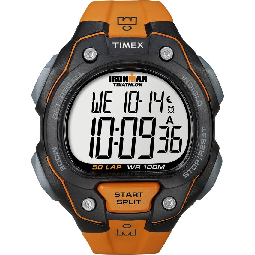 Timex T5K4939J Men's Ironman Traditional 50-lap Orange/ Black Watch - Thumbnail 1