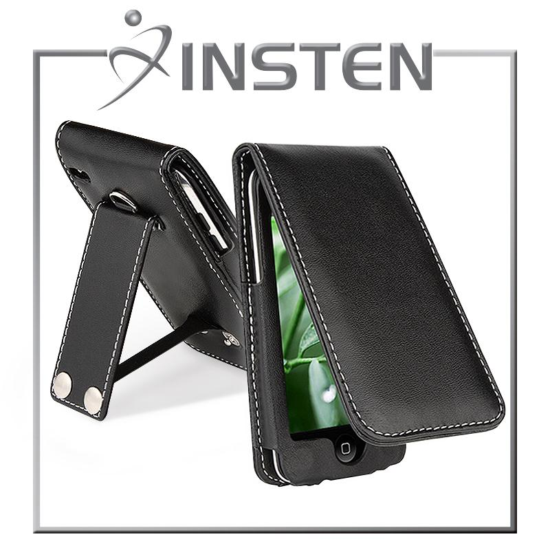 INSTEN Black Leather Case for Apple iPod Touch 4th Generation