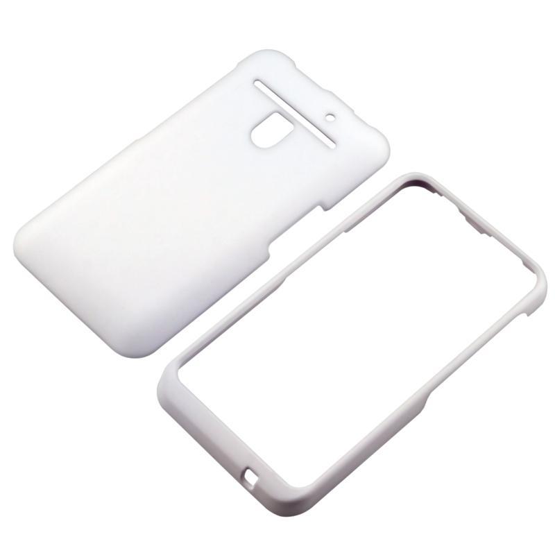 LG Revolution VS910 White Rubber Coated Snap-on Case