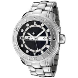 Invicta Men's Pro Diver Black Textured Dial Stainless Steel Watch
