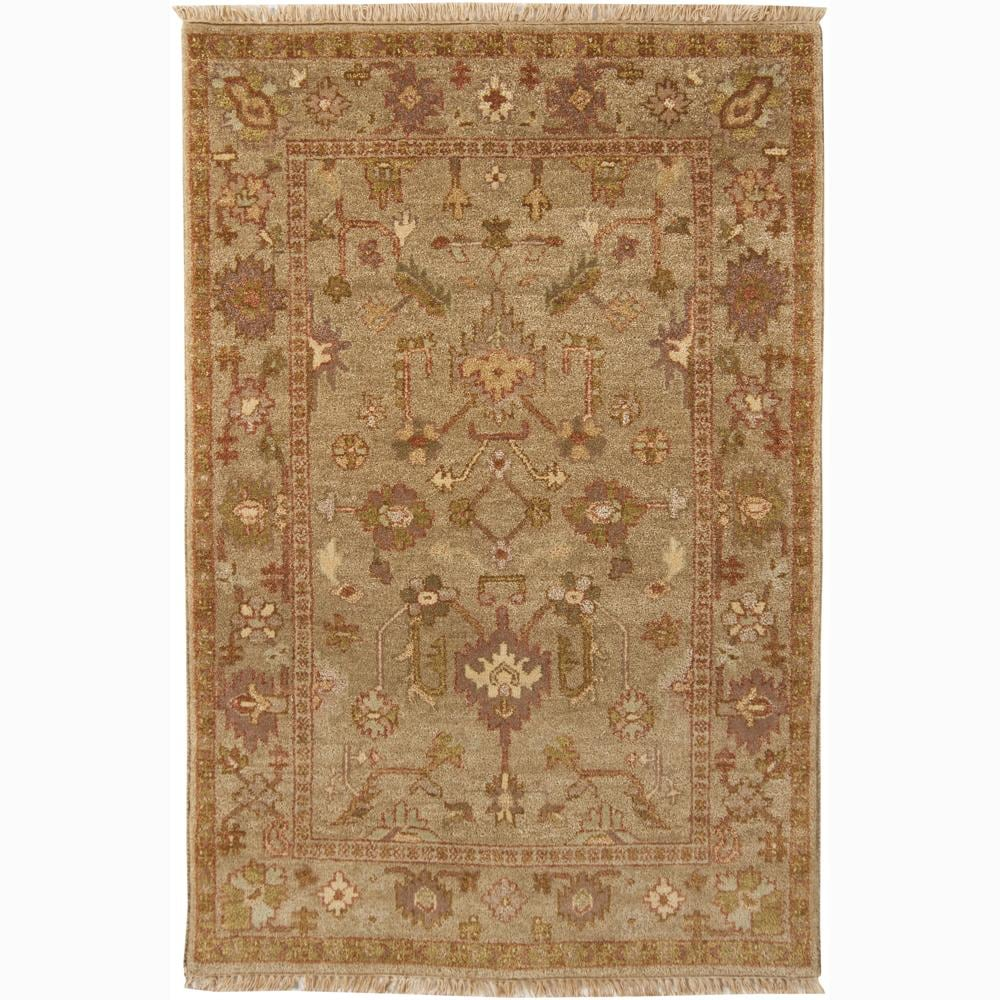 Hand-knotted Mandara Oriental New Zealand Wool Rug (4' x 6')