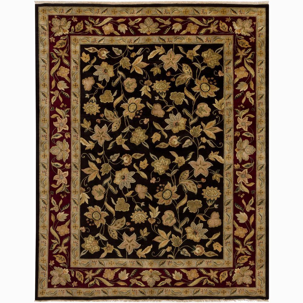 Hand-knotted Mandara New Zealand Wool Rug (9' x 12')