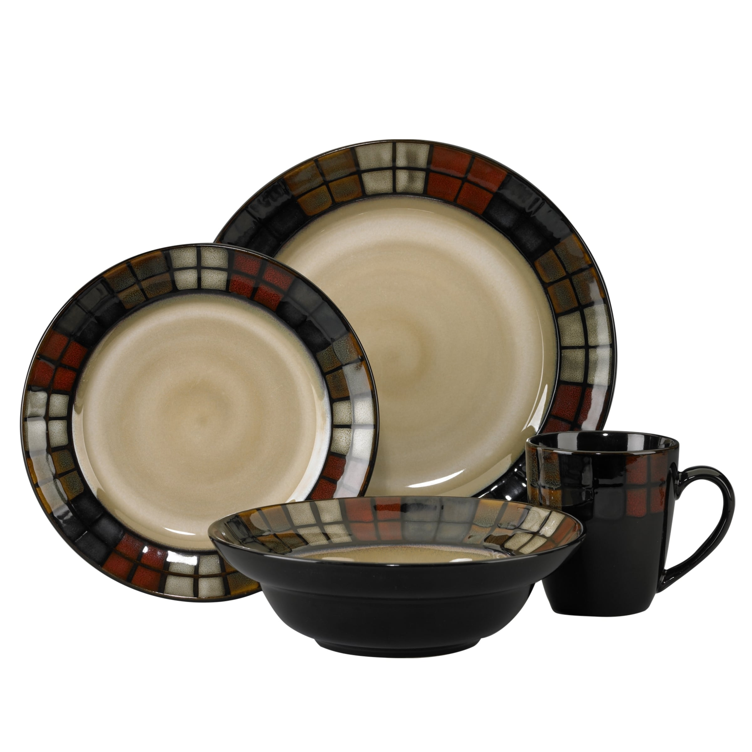 Shop Pfaltzgraff Calico 16-piece Dinnerware Set - Free Shipping ...