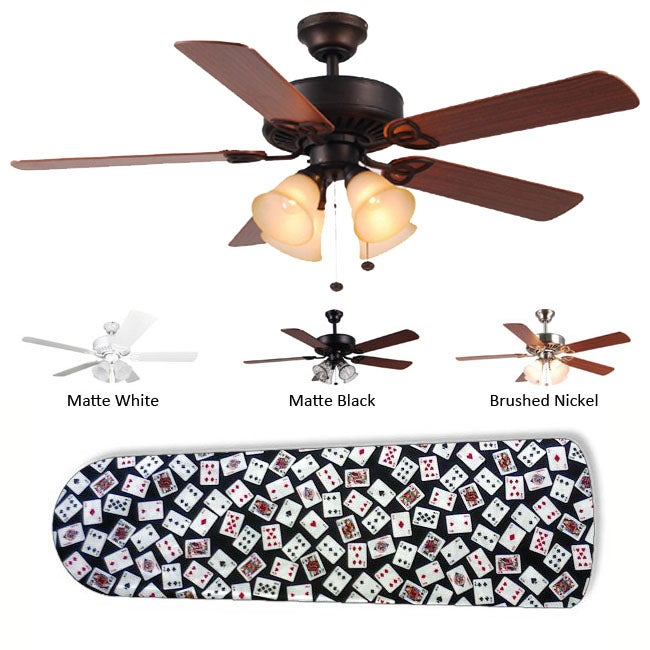 New Image Concepts 4-light 'Vegas Baby!' Ceiling Fan