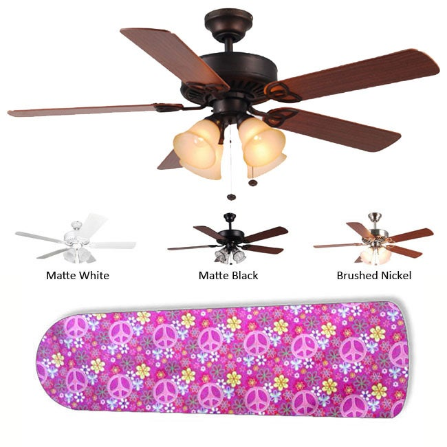 New Image Concepts 4-light 'Peace Baby' Ceiling Fan
