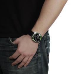 Geneva Platinum Men's Chronograph-style Silicone Watch - Thumbnail 2