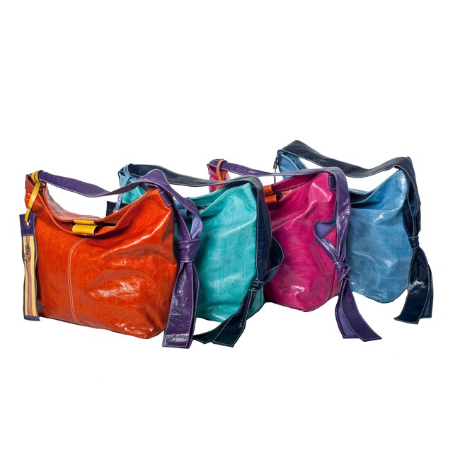 WE-GO by Mania Multicolor Leather Medium Bucket Bag