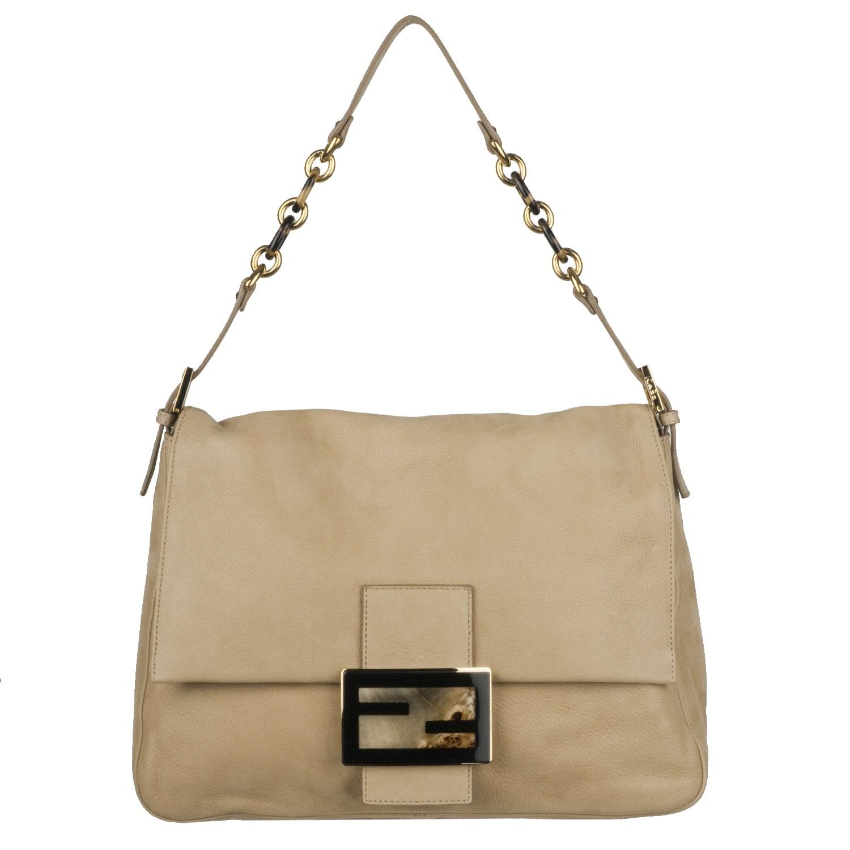 Fendi Forever Beige Big Mama Shoulder Bag