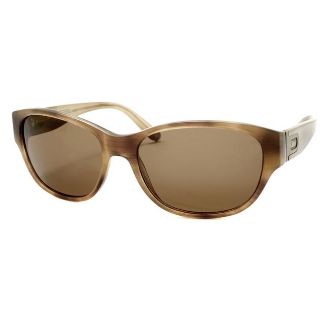 Chloe Women's Brown Horn Fashion Sunglasses
