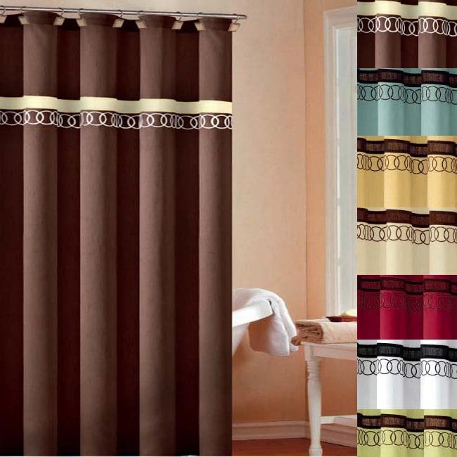 Orbit Embroidered Shower Curtain