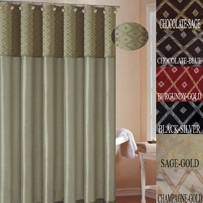 Dion Faux Silk Shower Curtain