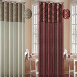 Dion Faux Silk Shower Curtain - Thumbnail 1