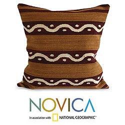 Handcrafted Wool 'Seeds' Cushion Cover (Peru)