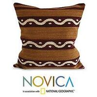 Handmade Wool 'Seeds' Cushion Cover (Peru)
