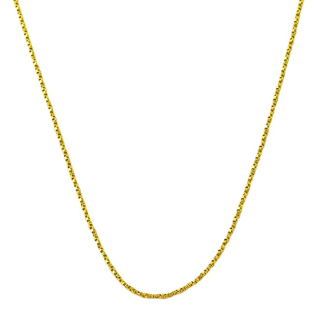 14k Yellow Gold 18-inch Twisted Box Chain
