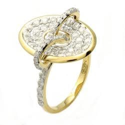 Beverly Hills Charm 14k Yellow Gold 1ct TDW Diamond Oval Ring (H-I, I2) - Thumbnail 1