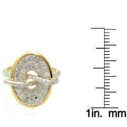 Beverly Hills Charm 14k Yellow Gold 1ct TDW Diamond Oval Ring (H-I, I2) - Thumbnail 2