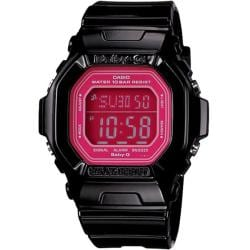 Casio Women's 'Baby-G' Square Black Digital Watch - Thumbnail 0