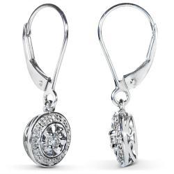Annello by Kobelli 14k White Gold 1/4ct TDW Diamond Earrings (H-I, I1-I2)