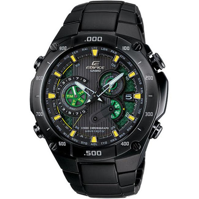 Casio Men's 'Edifice' Black Label Solar Power Atomic Chronograph Watch