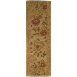 Safavieh Handmade Far East Sage Wool Rug (2'3 x 7'6)