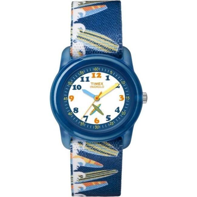 Timex T7B8889J Kids' Analog Surfer Elastic Fabric Strap Watch