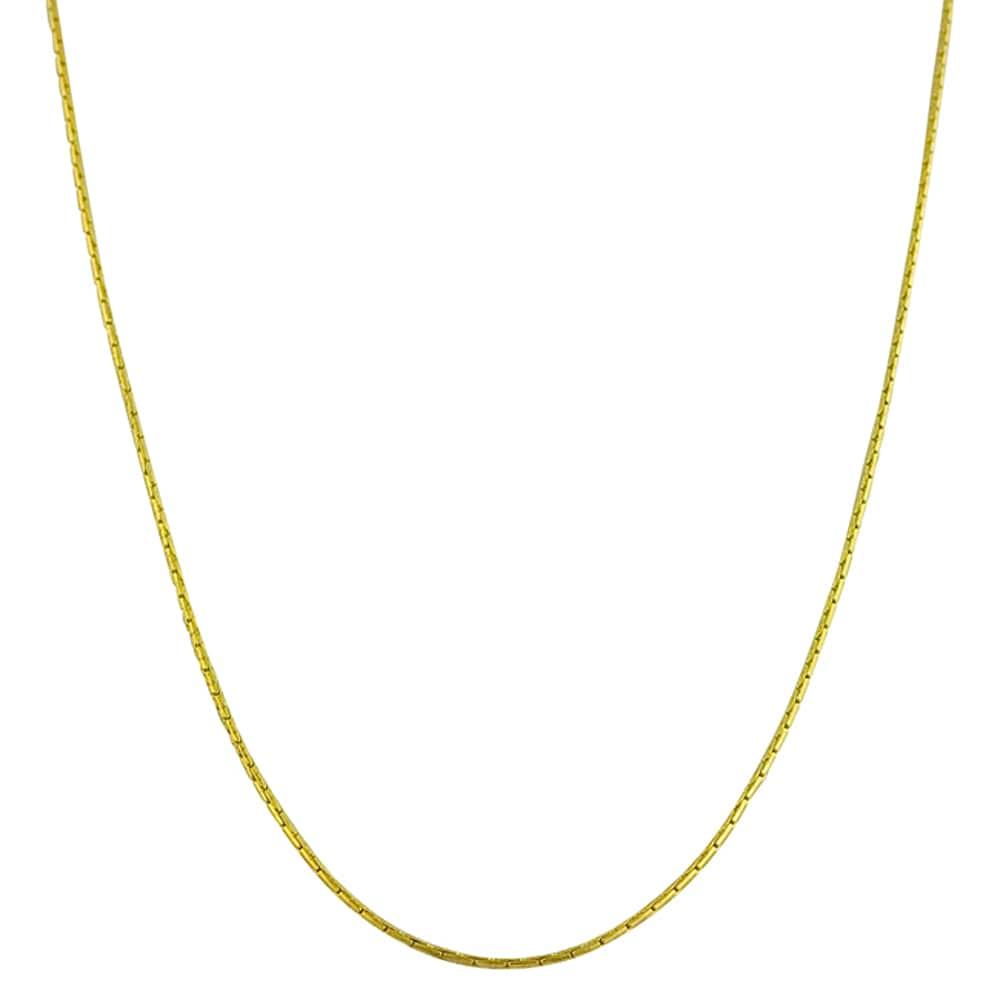 Fremada 14k Yellow Gold 18-inch Forzentina Chain Necklace