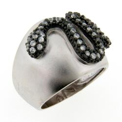 Meredith Leigh Silver Clear Cubic Zirconia Critters Snake Ring