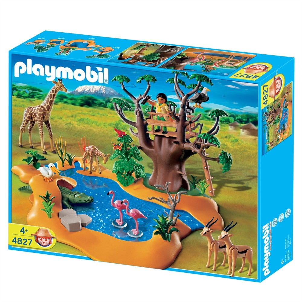 playmobil wild life waterhole play set free shipping today 13729890. Black Bedroom Furniture Sets. Home Design Ideas