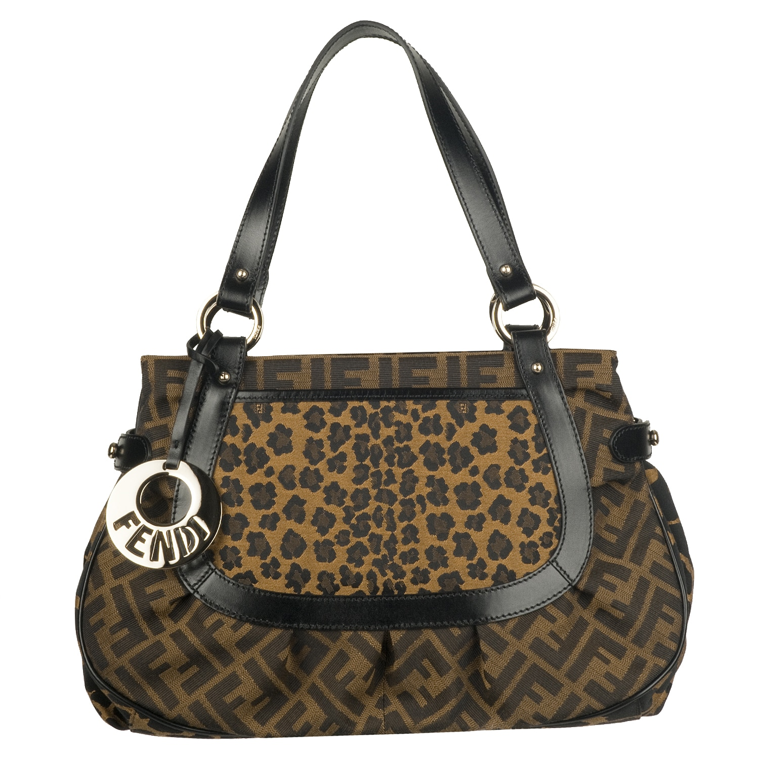 Shop Fendi Zucca Roll Canvas Bowler Bag - Free Shipping Today -  Overstock.com - 6091326 d4102797a64f5