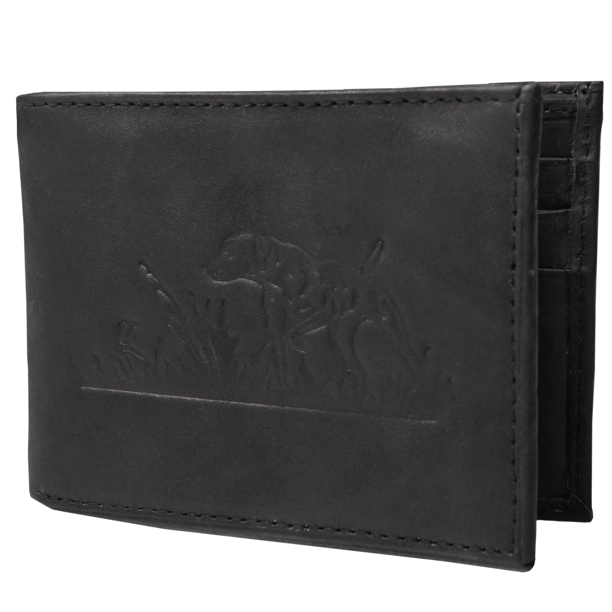 Boston Traveler Men's Genuine Leather Dog Embossed Bifold Wallet