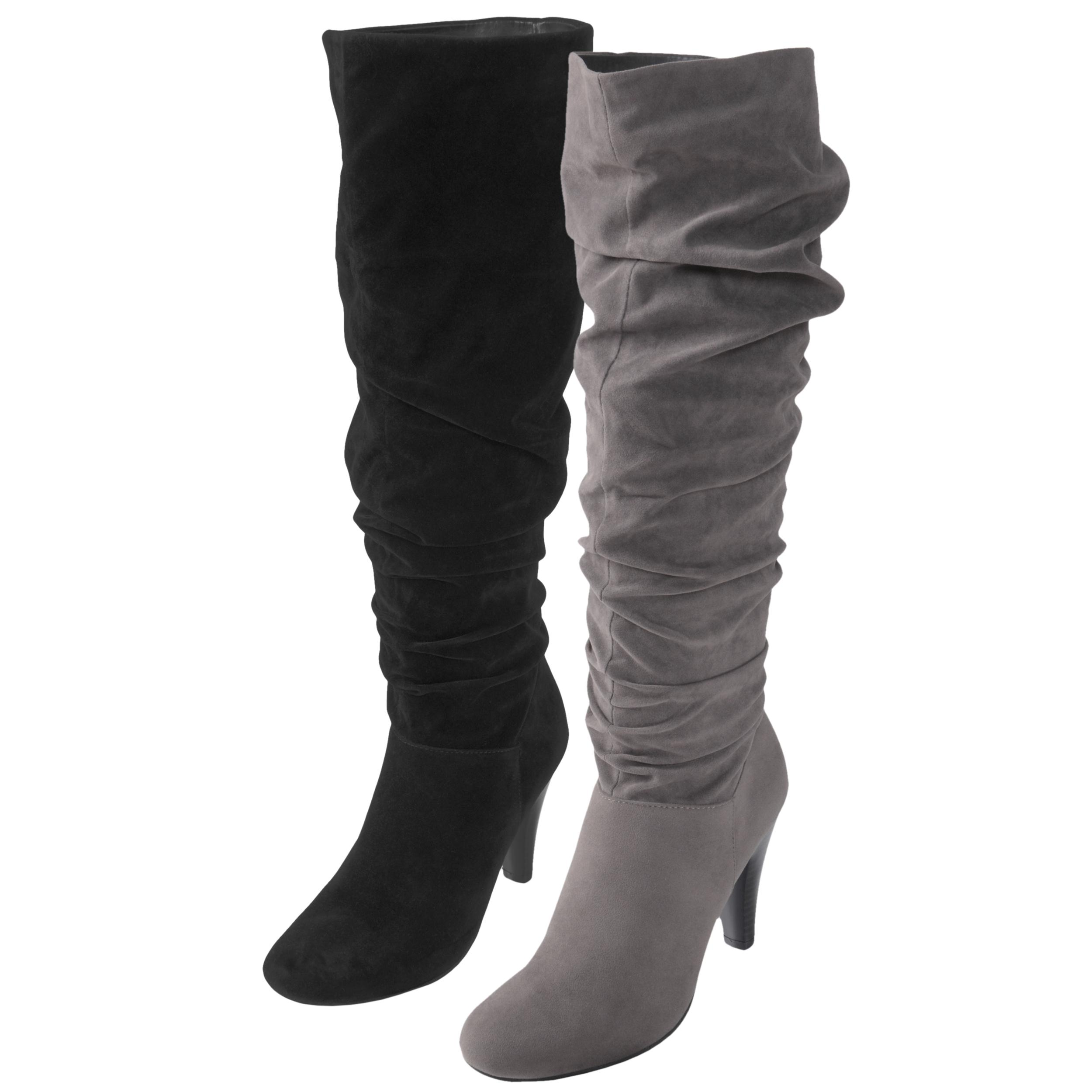 Journee Collection Women's 'SLC-08' Slouchy Heeled Boots