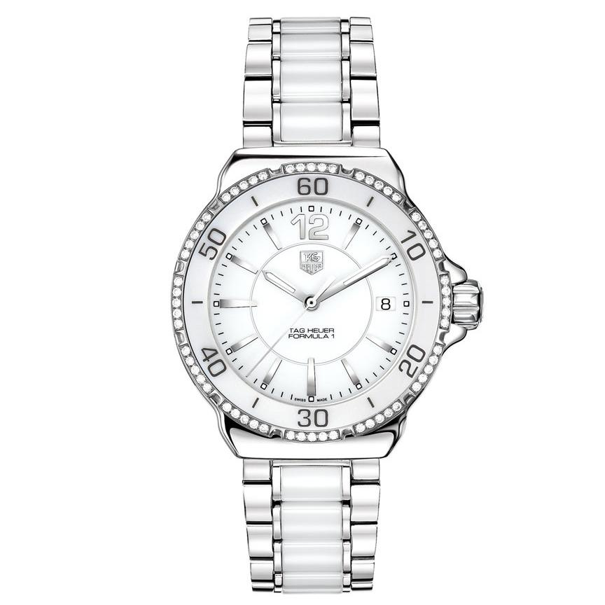 TAG Heuer Women's 'Formula 1' Stainless Steel Ceramic Diamond Watch