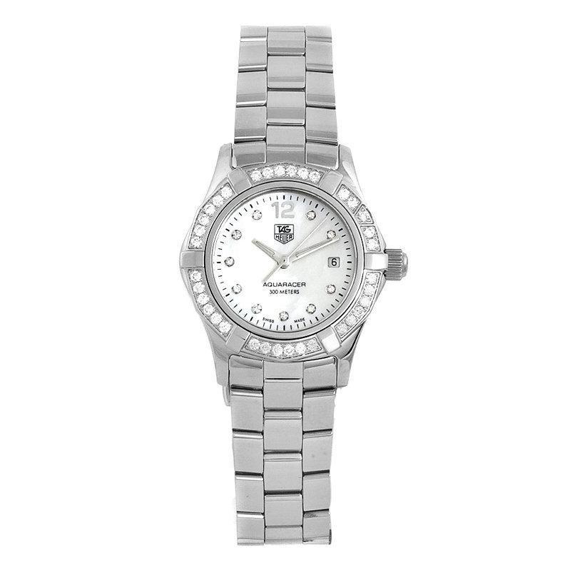 TAG Heuer Women's Aquaracer Stainless Steel Diamond MOP Dial Watch