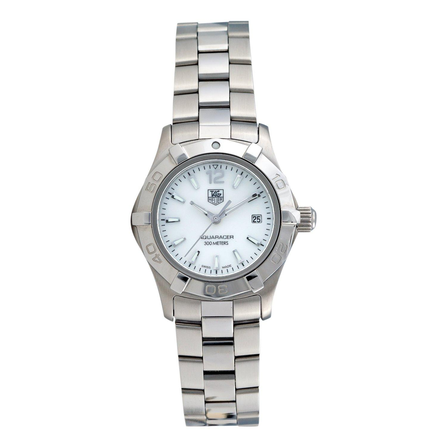 TAG Heuer Women's 'Aquaracer' Stainless Steel White Mother-of-Pearl Dial Watch