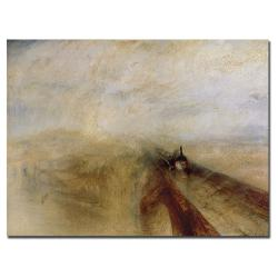 Joseph Turner 'Rain, Steam and Speed, 1844' Canvas Art